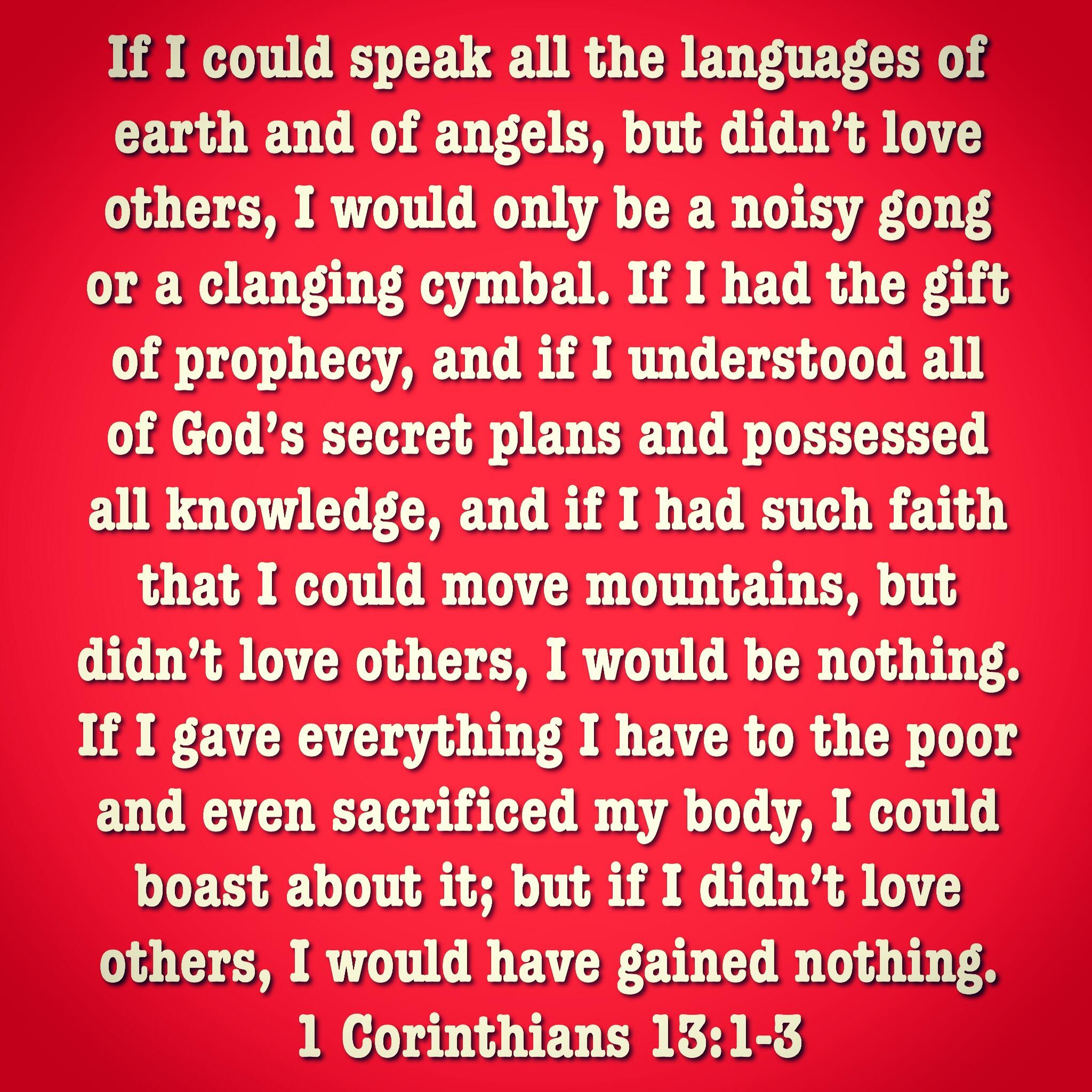 1 Corinthians 13:1-3 | Loose Him and Let Him Go