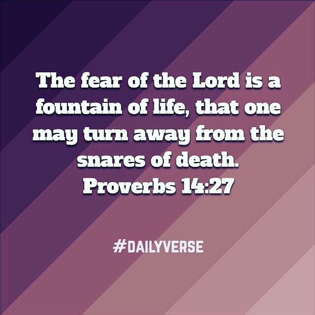 Proverbs 14:27