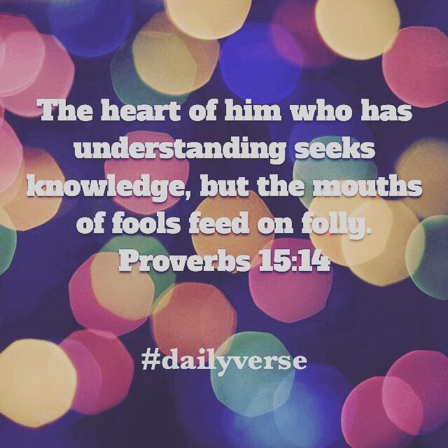 Proverbs 15:14