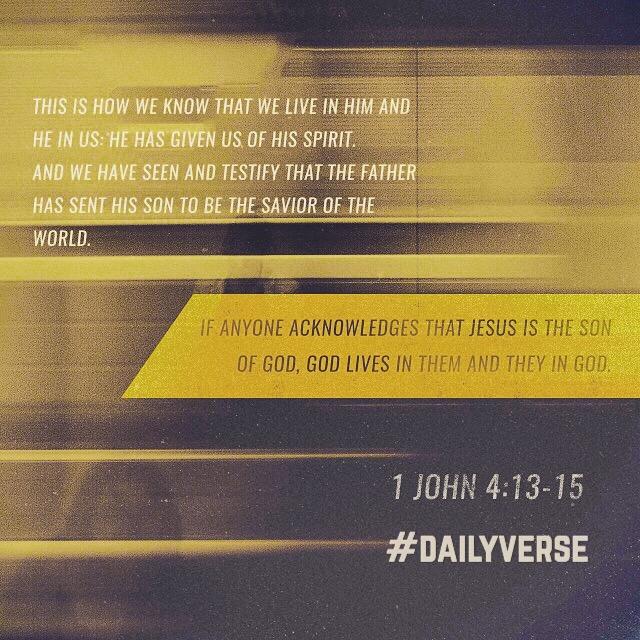 1 John 4:13-15