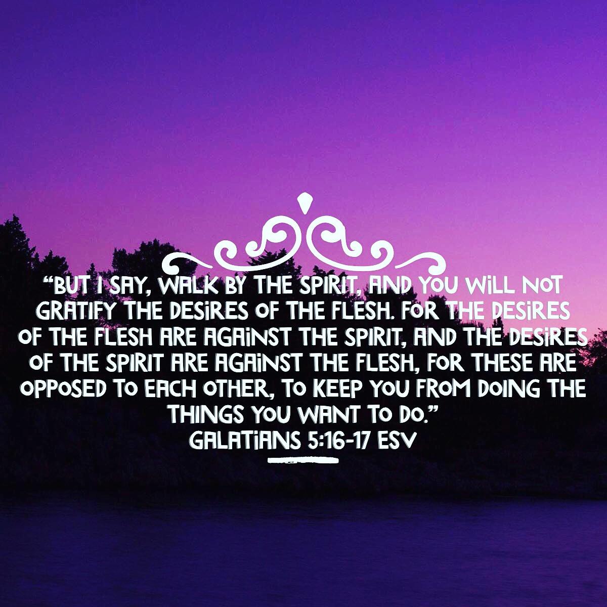 Galatians 5:16-17