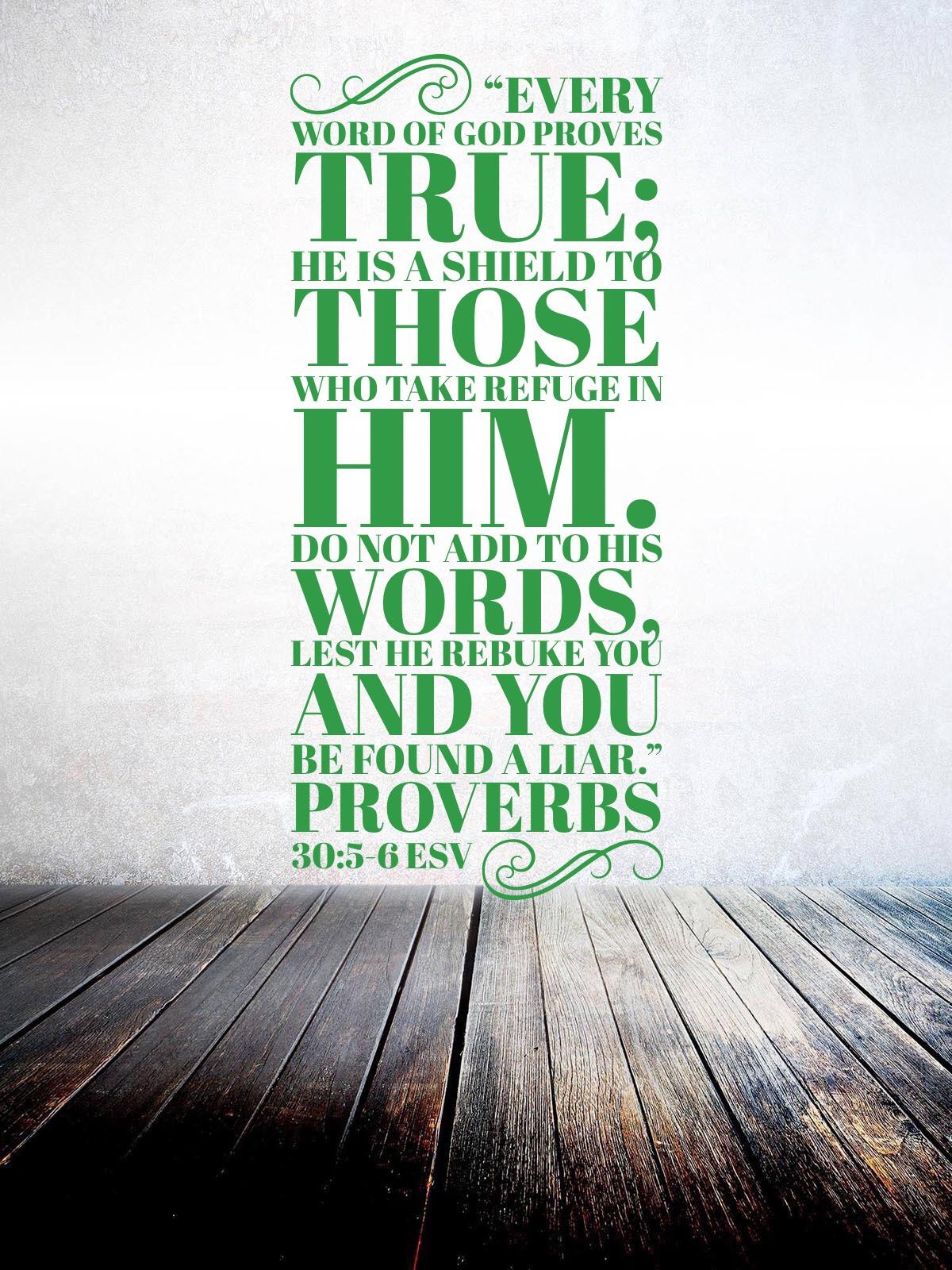 Proverbs 30:5-6