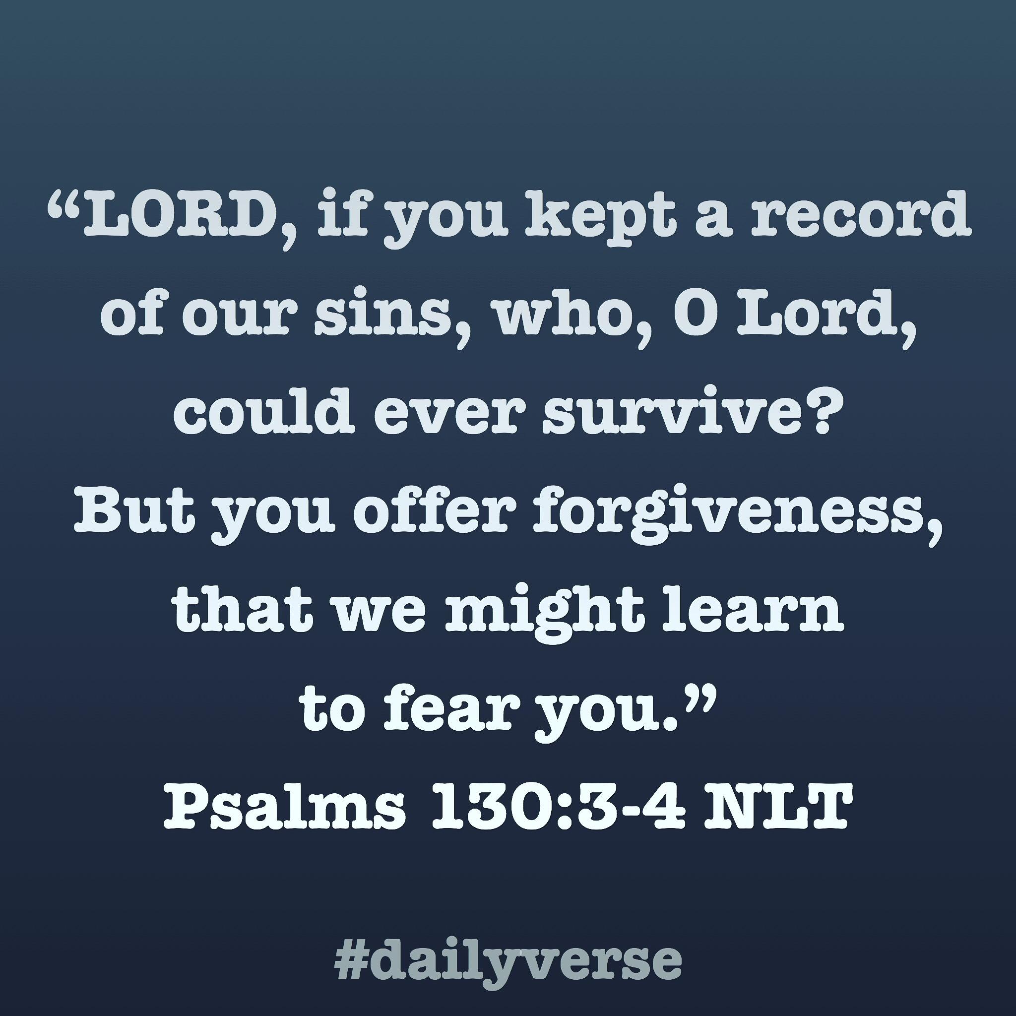 Psalms 130:3-4