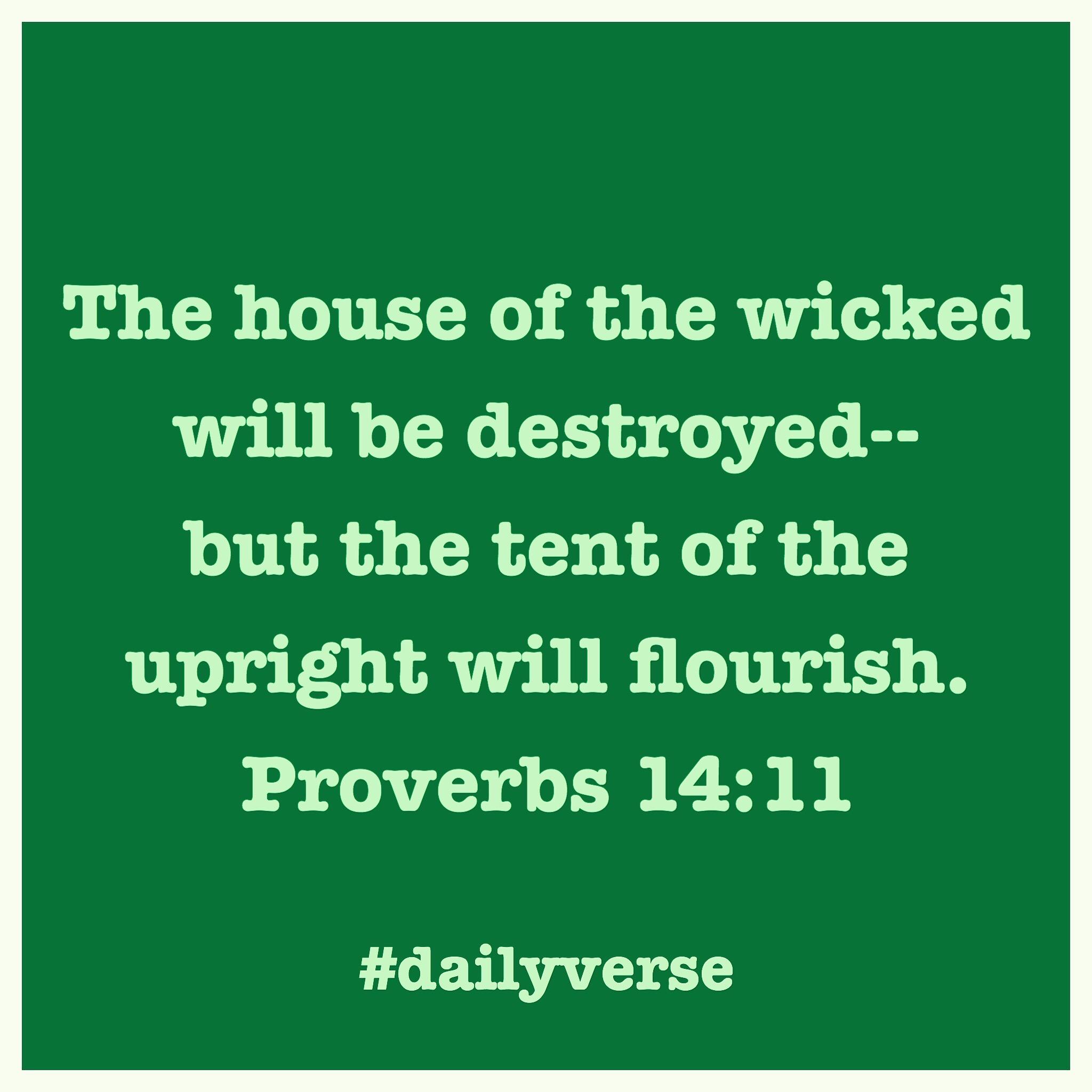 Proverbs 14:11