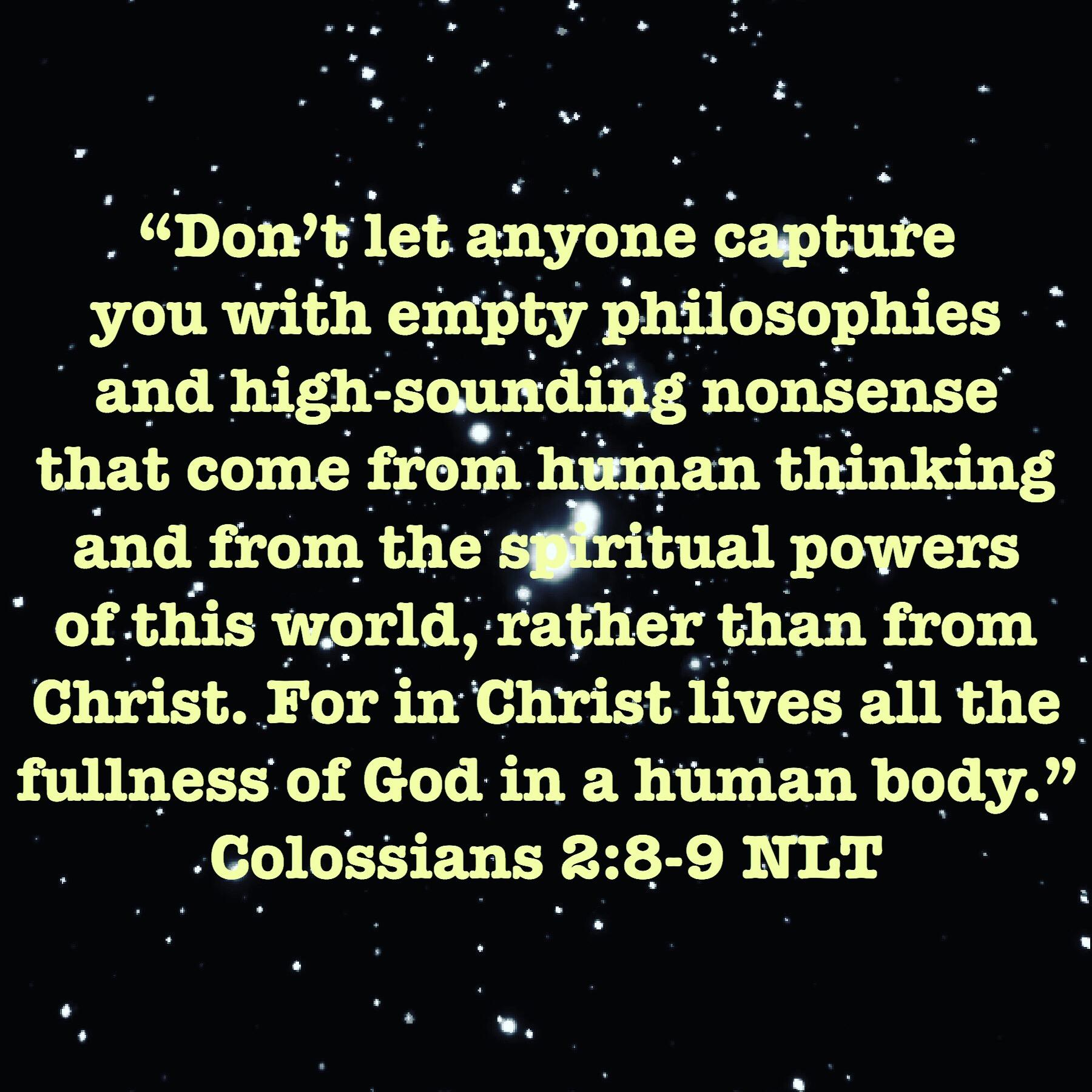 Colossians 2:8-9