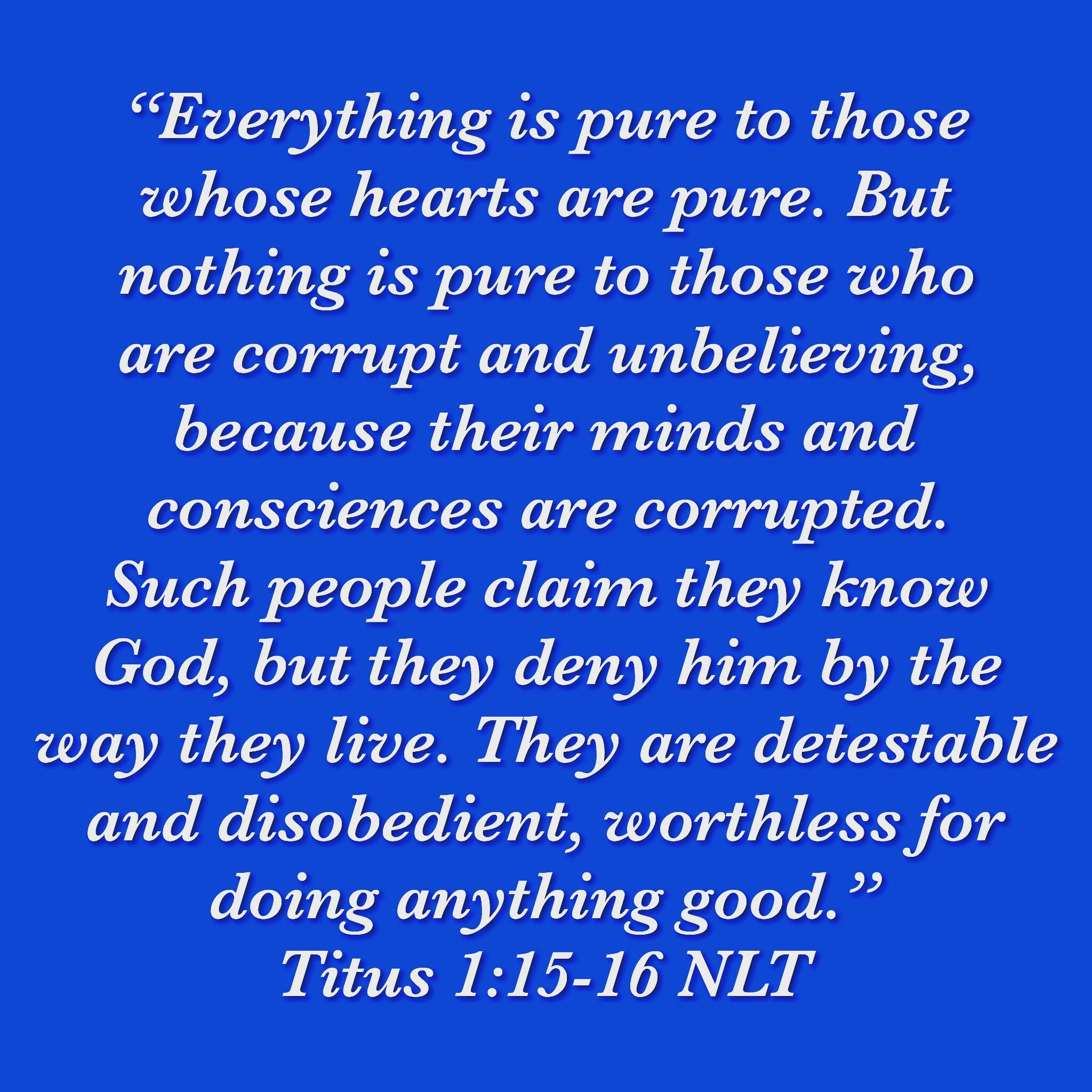Titus 1:15-16